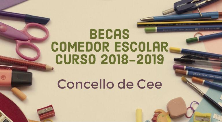 Becas de comedor escolar Concello de Cee. Curso 2018-2019 ...